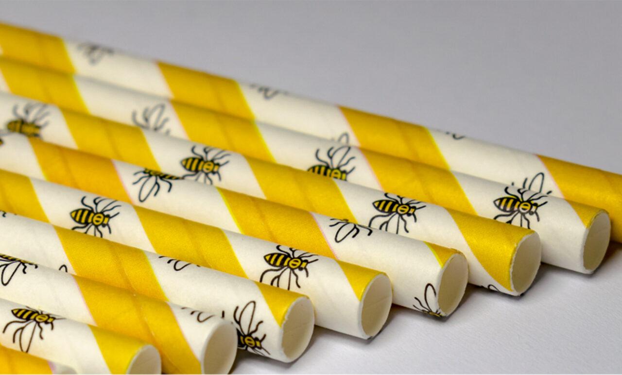 Worker Bee paper straws