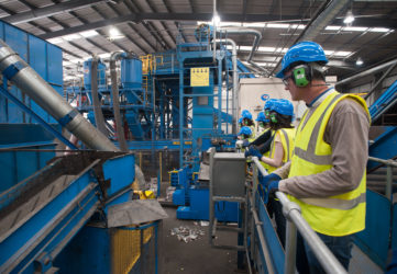Manchester students being educated on recycling