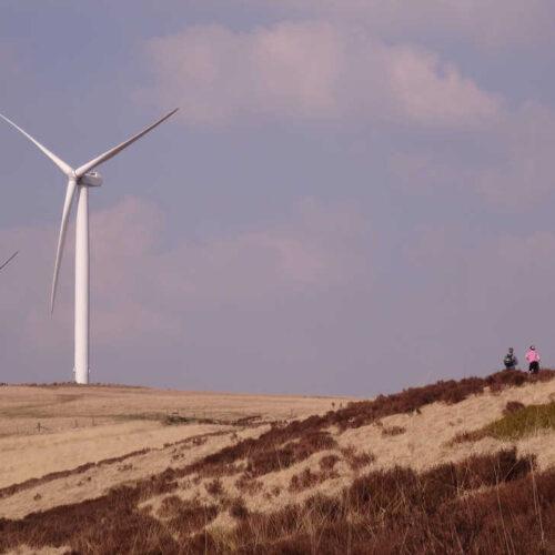 Turbines on moorland