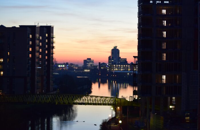 Twilight image of Manchester City Centre